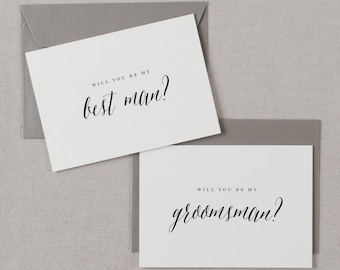 4 x Will You Be My Best Man, Will You be My Best Man, Groomsman Card, Wedding Party, Will You Be My Cards, Usher Card, K7