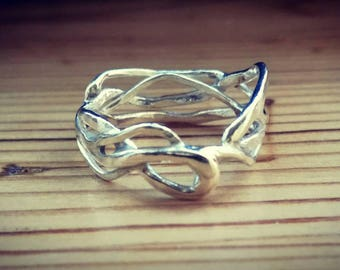 Free form silver ring