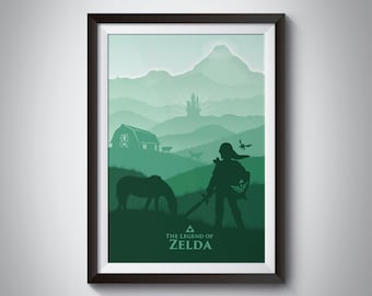 The Legend of Zelda: Hyrule Field inspired video game Poster