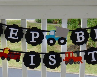 Custom Tractor, Trains and Trucks Party Decor