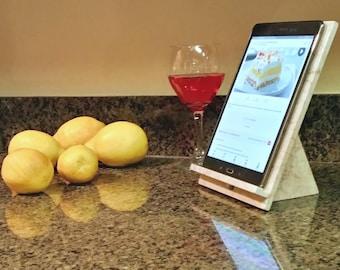 Kitchen Tablet Stand, Tablet Stand, Kitchen Decor, Tablet Holder, iPad Stand, Docking Station, Charging Station, Kitchen Art, Cookbook Stand