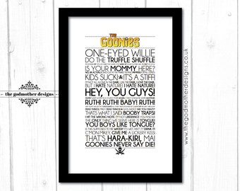 The Goonies - Movie - Quotes & Words - Typography - PRINT
