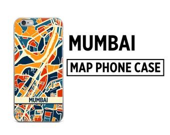 Mumbai Map Phone Case - Mumbai iPhone Case - iPhone 6 Case - iPhone 5 Case - iPhone 7 Case