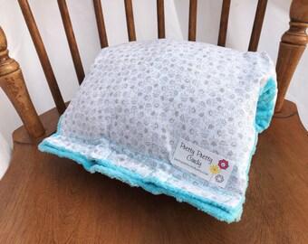 Grey Flower Baby Nursing Arm Pillow Sleeve