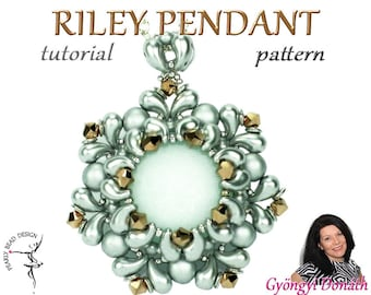 RILEY Pendant pattern with ZOLIDuo beads, DIY tutorial