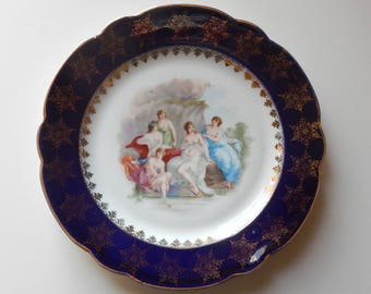 Lovely Vintage Plate With Goddess Motif!