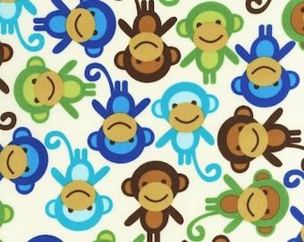Urban Zoologie Royal Monkeys by Ann Kelle for Robert Kaufman, 1/2 yard
