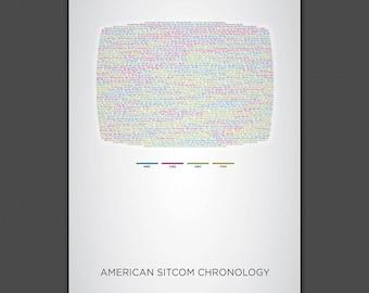 American Sitcom Chronology Print