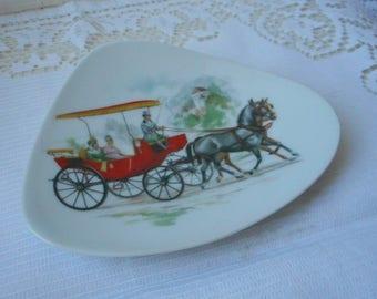 stunning vintage Limoges porcelain shaped trinket dish / trinket tray