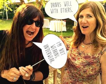 Funny Photo Prop Talk Bubbles - Wedding Edition