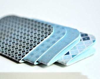 Mini Blank Books {4} Mixed Blue   Mini Notebooks   Blue Notebooks   Paper Lover Gift under 10   Stocking Stuffer   Teacher Gift