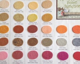 Wool Blend Felt Color choices - felt samples