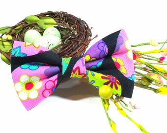 Easter Dog Bow Tie - Easter Parade, Easter Cat Bow Tie, Spring Dog Bow Tie, Holiday Pet Bow Tie
