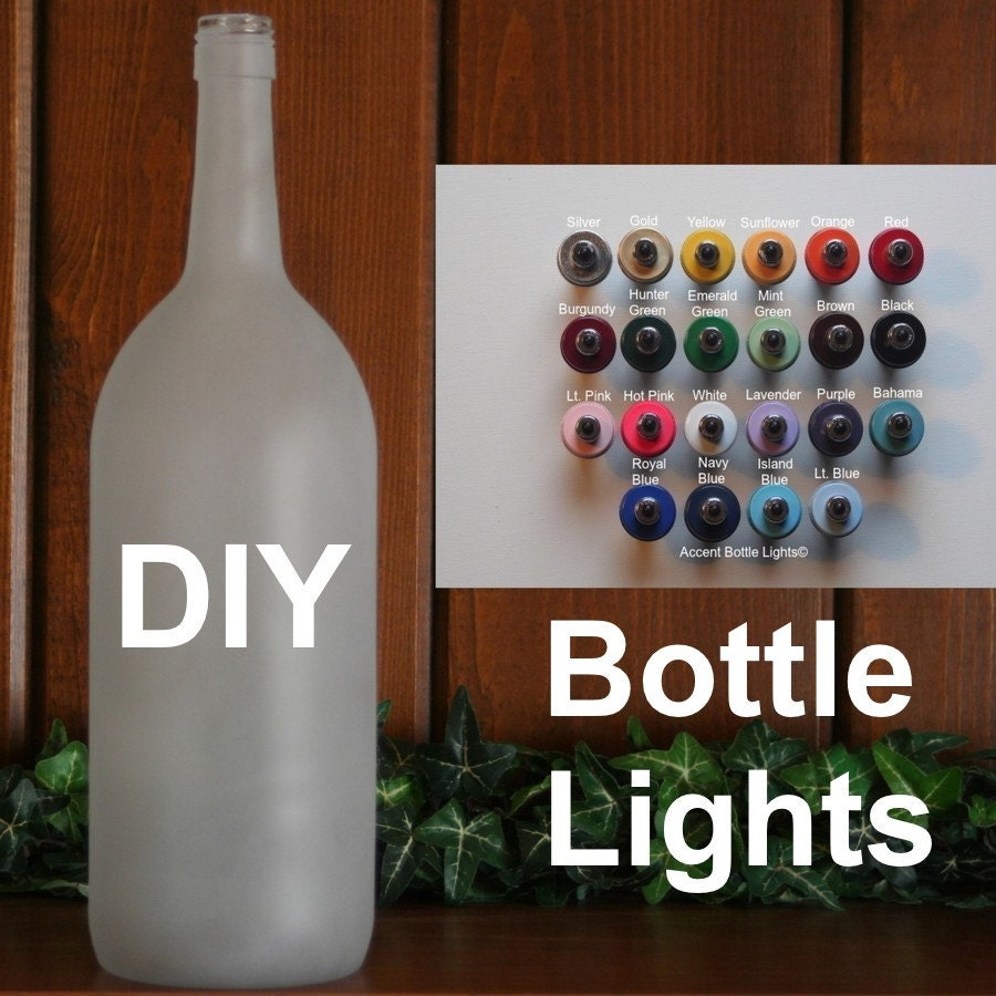 Bottle Light Kit DIY Lamp Decorate Frosted Glass Arts and for How To Make A Table Lamp From A Bottle  111ane