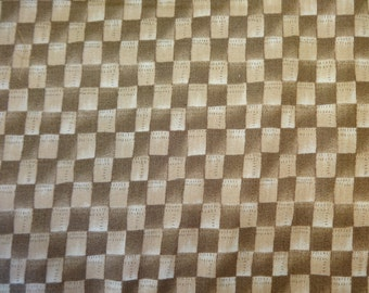 Brown Checkered Pattern Fabric 411