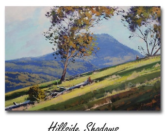 LARGE LANDSCAPE Oil PAINTING Listed Artist Impressionism by  Graham Gercken