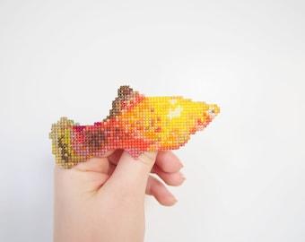 Southern Platyfish Cross Stitch Brooch
