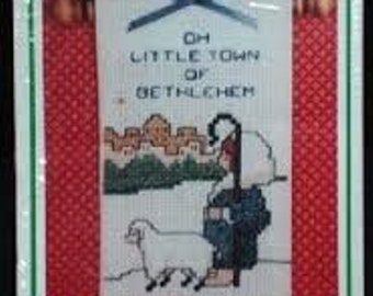 Oh Little Town of Bethlehem, Counted Cross Stitch Kit