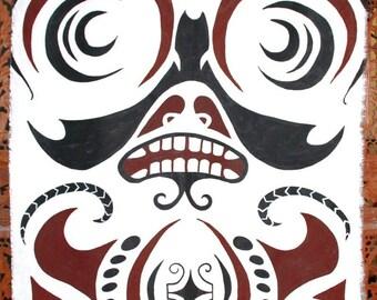 Wall hanging maori or Polynesian style