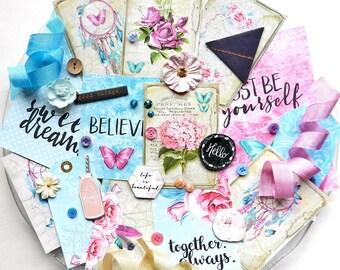 Embellishment Kit / Daydream / Scrapbook Embellishment / Scrapbooking Supplies / Planner Cards / Junk Journal Kit / Lemoncraft / Planner Kit