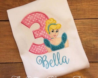Blue Princess birthday shirt,perfect for a disney vacation shirt,Birthday princess shirt, princess shirt,princess birthday outfit,ships fast