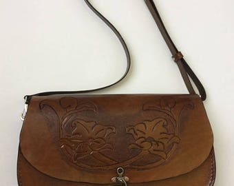 Leather Bag Woman - Handmade - Hand tooled
