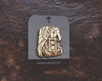 The Inevitable - artist series lapel enamel pin