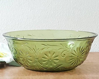 Green Glass Bowl FTD bowl dated 1979