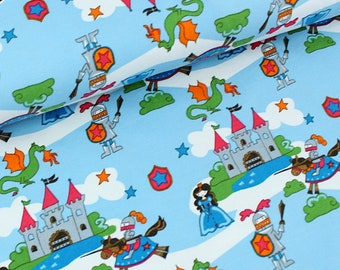 Stoffonkel Knights and Castles Organic Jersey Knit Fabric