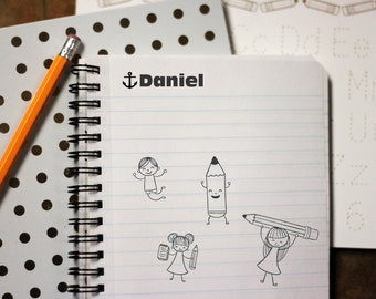 Self Inking Kids Stamp, Personalized Kids Stamp, Custom Stamp, Kids Name Stamp, This Book Belongs to Stamp --12166-EM01-000