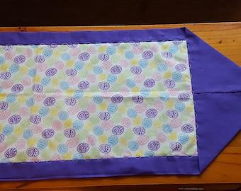 Easter table runner, Easter table topper, purple table runner, holiday runner, table mat, dresser scarf