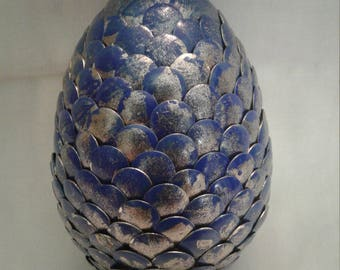 Blue and Silver Dragon Egg