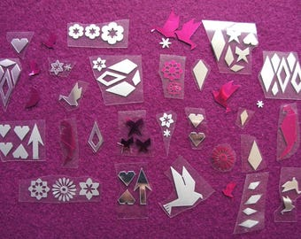 Set of 70 collection: Duet fuschia and 2 silvers