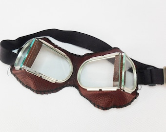 Vintage Goggles Steampunk Goggles Military glasses Aviator glasses Protective mask Welder's goggles Motorcycle goggles Punk Biker Glass