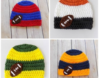 Micro Preemie Hat, Baby Football Team Hat, Custom Football Team Hat
