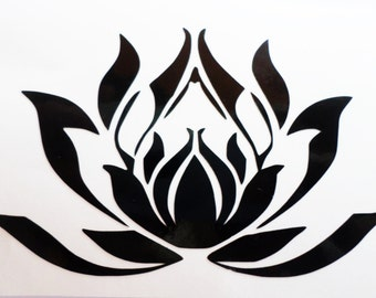 Lotus flower decal Lotus flower Lotus decal Vinyl decal Laptop decal Laptop sticker Macbook decal Macbook sticker Yoga sticker Yoga decal