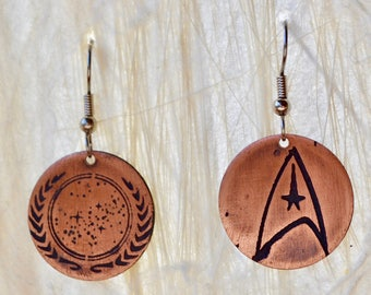 Federation and Command Star Trek Earrings Seconds
