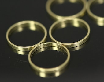 150 pcs Raw Brass Ring 10 mm (hole 9 mm) industrial brass Charms,Pendant,Findings spacer bead bab9-17