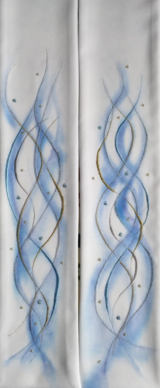 Predigt Schal blaue abstrakte Muster