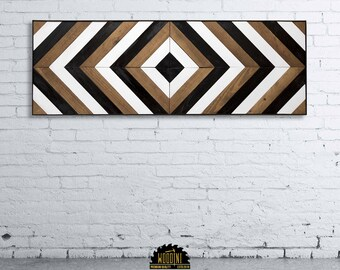wood wall art, reclaimed wood wall decor, wood art, modern wall decor, large wall decor, wood mosaic