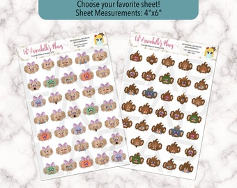 Emotions Stickers / Mood Tracker / Available in Rosy or Teh-Teh Bear Characters / Planner Stickers