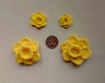 Spring is coming celebrate with a unique hand crochet Daffodil Pin