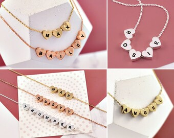 Loss Of Pet Necklace   Pet Memorial Jewelry   Custom Name Necklace   Pet Loss Gift   Bereavement   Condolence Gift   Pet Loss Gifts  