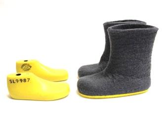 Bambini feltro Boots - Stivali di colore Custom - contrasto colore Sole stivali di gomma - 30 colore feltro Boot - Mix e Match colori - Custom made bambini dimensioni