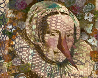 Romantic Monarchists Series, Fine Art Print of Barbara 8.5 x 11