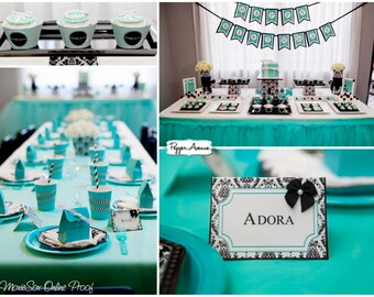 Deluxe Breakfast at Tiffany's Collection - Birthday Party, Bridal or Baby Shower - Printable File - (PARTIAL INSTANT DOWNLOAD!!)