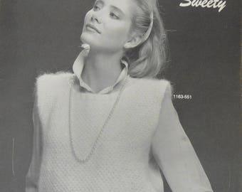Vintage Bernat Leaflet NO. 551 DREAMSPUN SWEETY Knit Leaflet