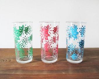 3 Vintage Tumblers Jelly Glasses Juice Glasses 1960s Drinking Glasses