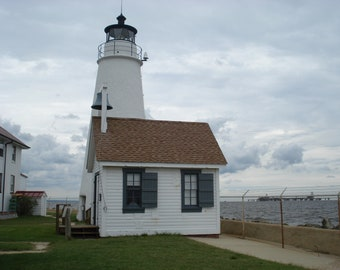 Cove Point Lighthouse Counted Cross Stitch Pattern