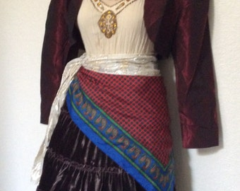 Small Fortune Teller Halloween Costume with Jewelry - Pirate Costume - Adult Women's Small